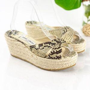 Jimmy Choo Paisley Sandal Wedge Platform Snake